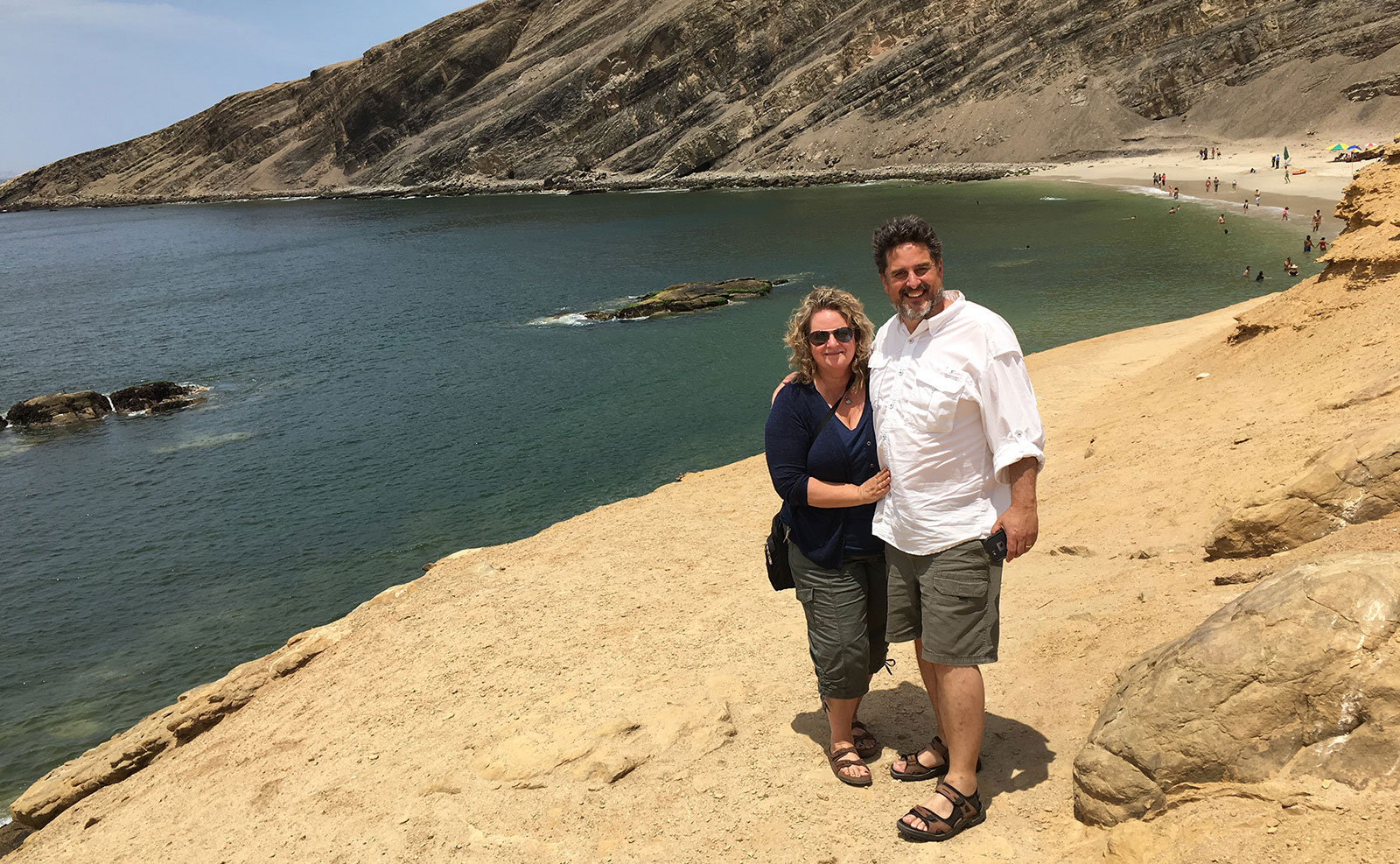 Jeff and Donna in Paracas National Park, Peru