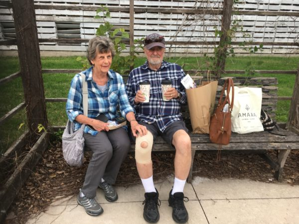 Donna's parents in Amana Colonies