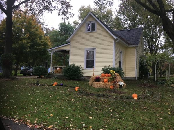Homes decorated for October